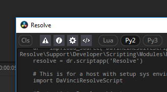 Blackmagic Resolve Scripting